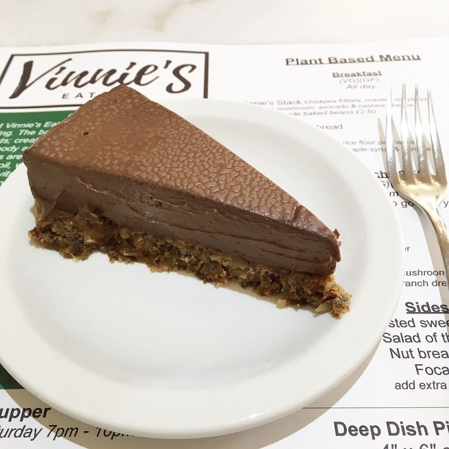 Vinnie_s Eatery Review Plant Based Restaurant in Cheltenham - vegan cheesecake chocolate orange