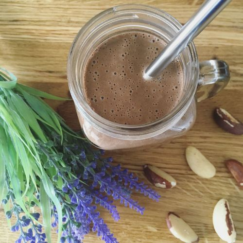 3 healthy snacks to satisfy a vegan sweet tooth - chocolate brazil nut smoothie.jpg