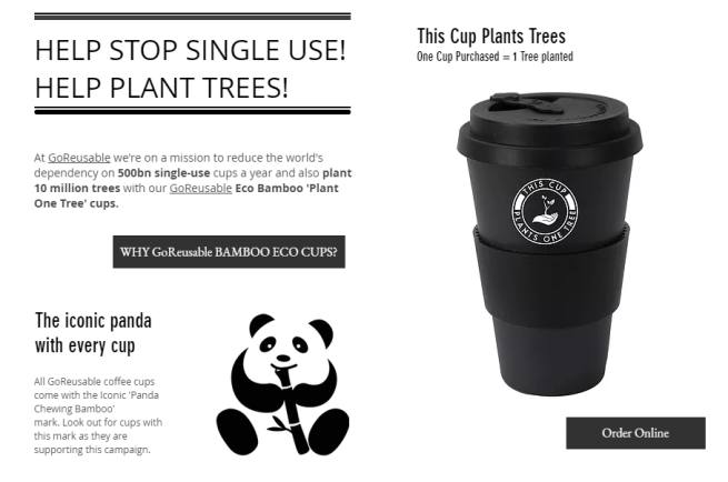 GoReusable Bamboo Eco Cup This Cup Plants One Tree Buy Online