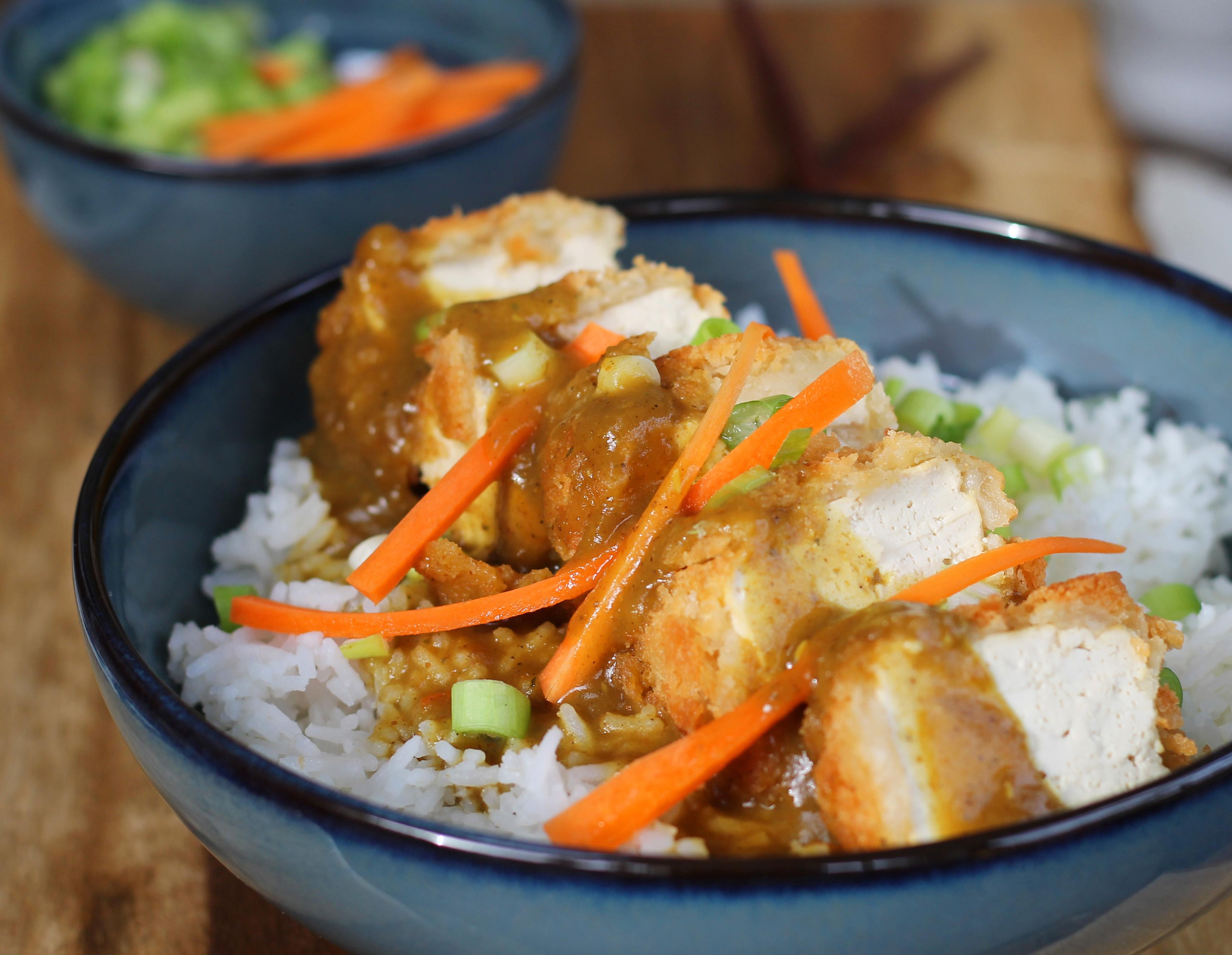 tofu katsu curry - Vegan recipes to help maximise your effectiveness