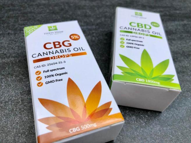 Herts Hemp reviews discount code CBD and CBG cannabis oil drops