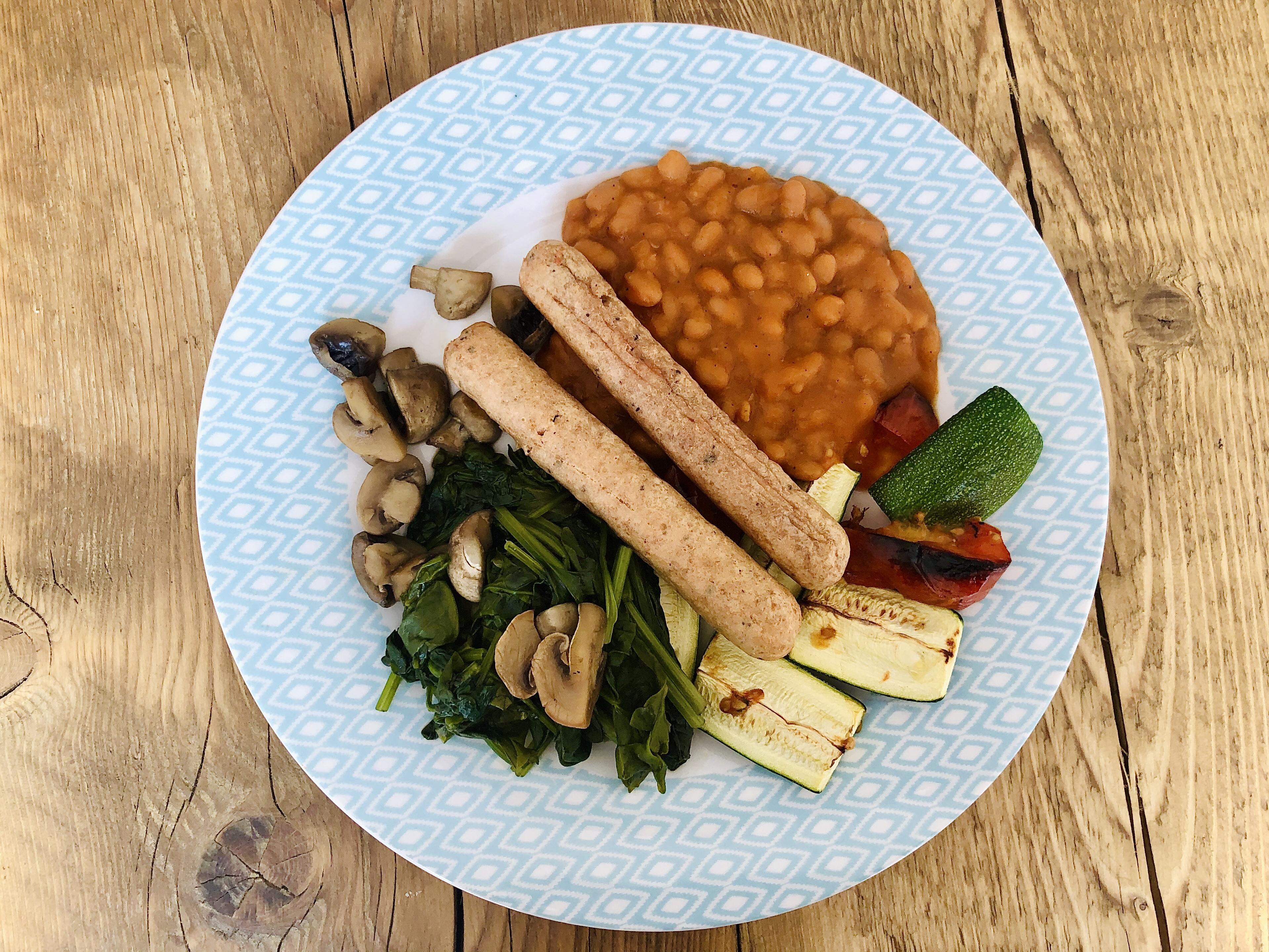 Cooked vegan breakfast
