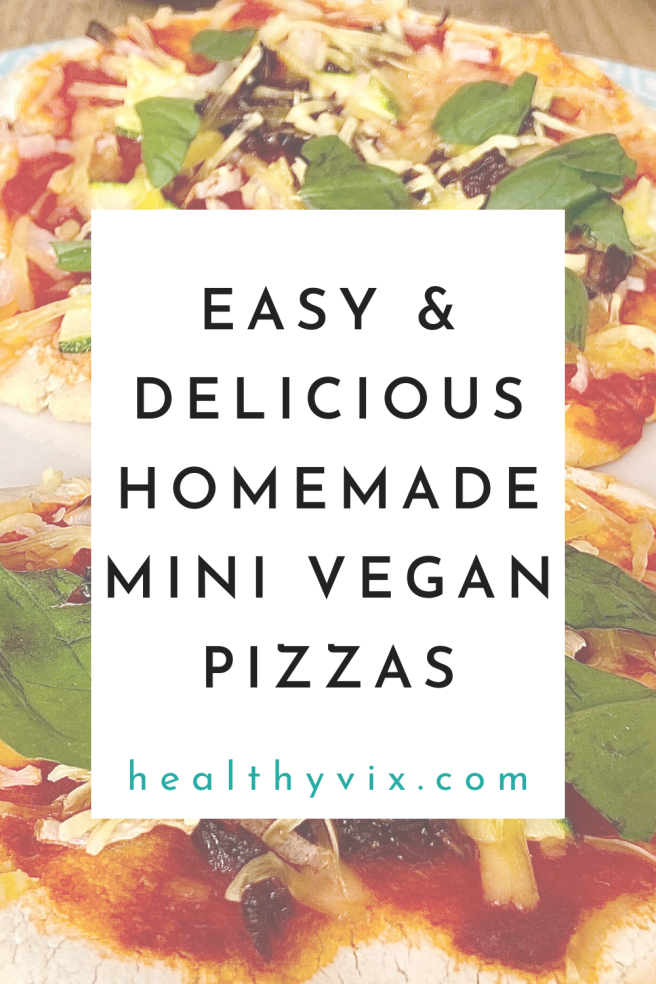 Easy + delicious homemade mini vegan pizzas
