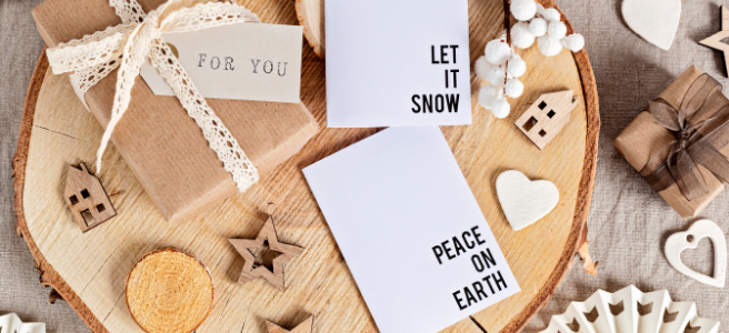 Eco friendly + recycled Christmas card ideas