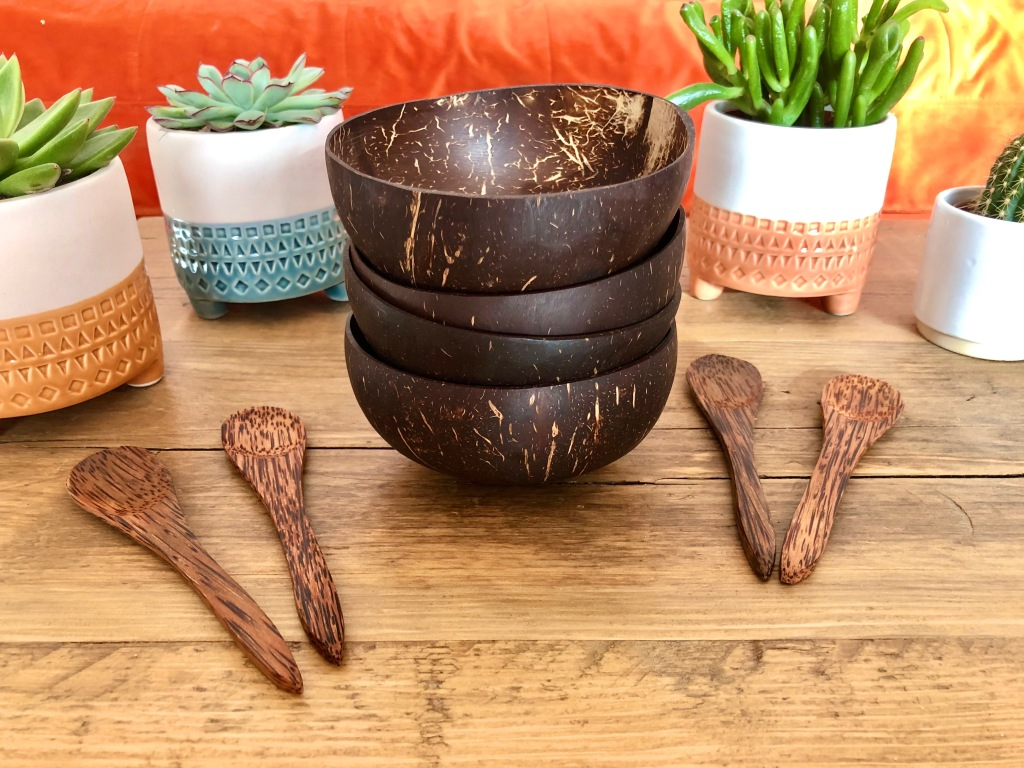 Coconut bowl and spoon set discount code