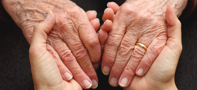 Supporting an elderly loved one adapt to old age